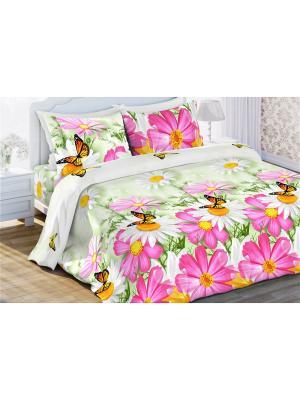 Комплект постельного белья 1,5 бязь Космея Любимый Дом. Цвет: фиолетовый, белый