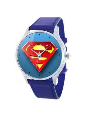 Дизайнерские часы Супермен Tina Bolotina. Цвет: синий,красный