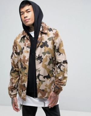Dickies Спортивная куртка с камуфляжным принтом. Цвет: светло-серый