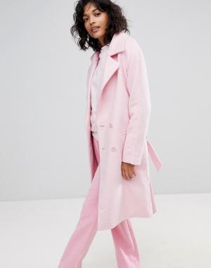 2nd Day Двубортное пальто. Цвет: розовый