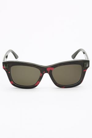 Очки солнцезащитные Valentino. Цвет: розово-зеленый