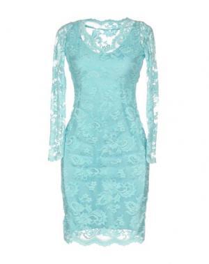 Короткое платье BALENSI. Цвет: лазурный