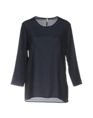 Блузка EMMA&GAIA. Цвет: темно-синий