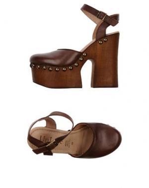 Туфли UNLACE. Цвет: коричневый