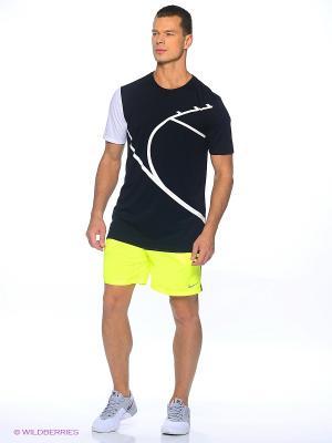 Шорты 7 DISTANCE SHORT (SP15) Nike. Цвет: черный, желтый