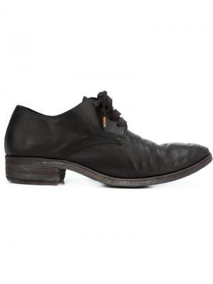 Туфли на шнуровке с потертой отделкой A Diciannoveventitre. Цвет: чёрный