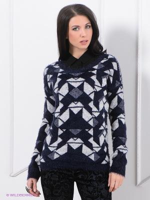 Джемпер Vero moda. Цвет: темно-синий, серый