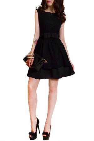 Платье FRANCESCA LUCINI. Цвет: черный, черное кружево