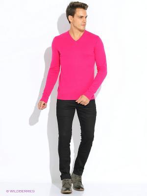 Пуловер Oodji. Цвет: фуксия