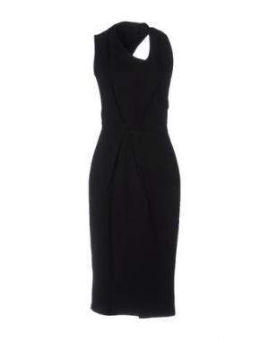 Платье до колена RHEA COSTA. Цвет: черный