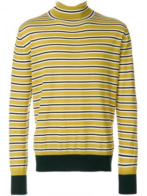 Полосатый свитер с высоким горлом Marni. Цвет: жёлтый и оранжевый