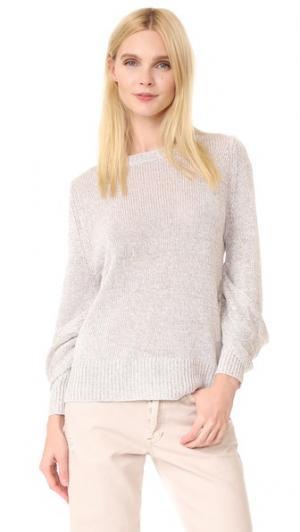 Пуловер Mead с драпированными рукавами Brochu Walker. Цвет: серебристый серый