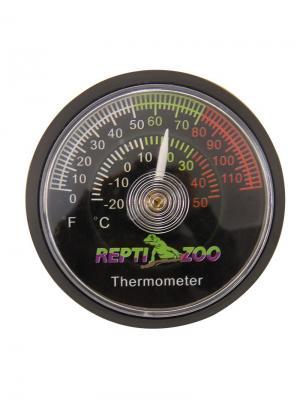 Термометр аналоговый 47*10мм. REPTI-ZOO. Цвет: черный