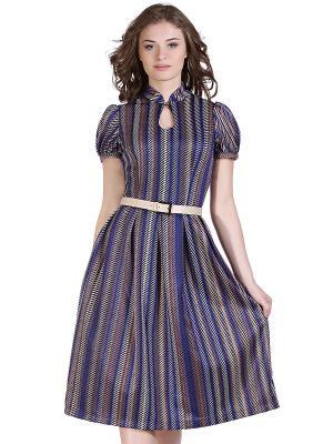 Платье OLIVEGREY. Цвет: синий, бежевый