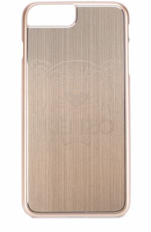 Чехол для iPhone 6 Plus с отделкой металлом Kenzo. Цвет: золотой