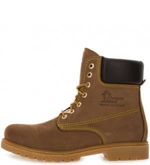 Высокие утепленные ботинки на шнуровке Panama Jack. Цвет: коричневый