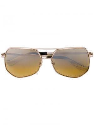 Квадратные солнцезащитные очки Grey Ant. Цвет: жёлтый и оранжевый