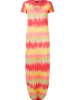 Платье с узором Skinbiquini. Цвет: жёлтый и оранжевый