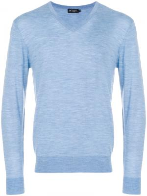 V-neck sweater Hackett. Цвет: синий