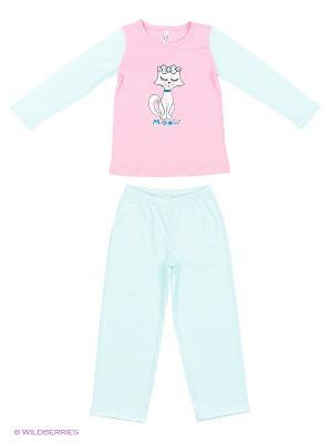 Пижама: топ, брюки Modis. Цвет: розовый