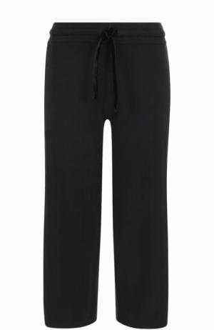 Укороченные хлопковые брюки с эластичным поясом Deha. Цвет: черный