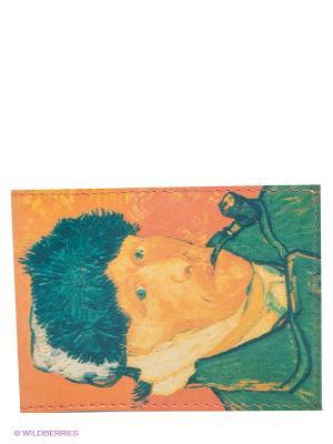 Обложка для студенческого Ван Гог Mitya Veselkov. Цвет: светло-оранжевый, зеленый