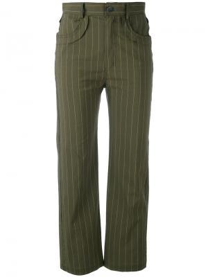 Укороченные брюки Posy Damir Doma. Цвет: зелёный