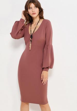 Платье Rinascimento. Цвет: коралловый