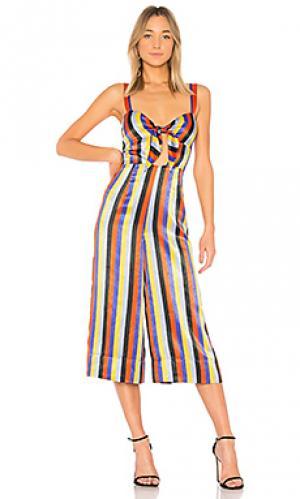 Пляжный костюм с широкими брюками lolita House of Harlow 1960. Цвет: красный