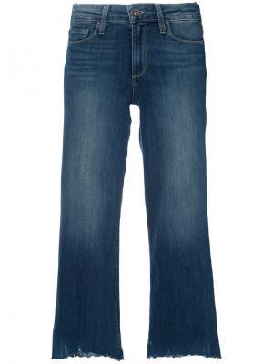River wide leg crop jeans Paige. Цвет: синий