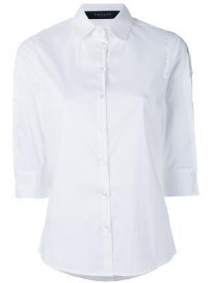 Поплиновая рубашка с вырезными деталями Federica Tosi. Цвет: белый