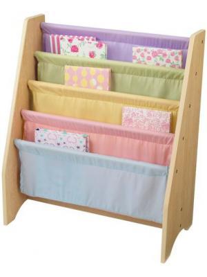 Эксклюзивный книжный шкаф Pastel KidKraft. Цвет: светло-голубой, розовый