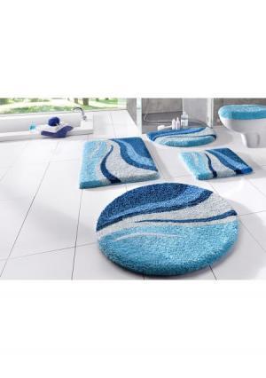 Коврик для ванной Wave MY HOME. Цвет: зеленый, синий