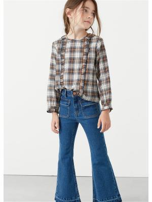 Блузка - HEIDI Mango kids. Цвет: коричневый