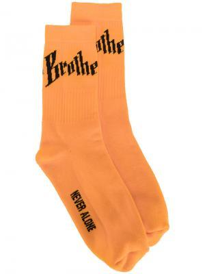 Носки Toby Blood Brother. Цвет: жёлтый и оранжевый