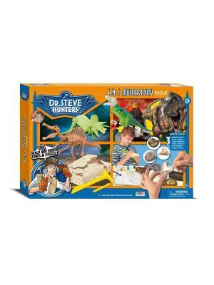 Набор Мультиактив 4 в 1 серия Dr.Steve Hunters Geoworld. Цвет: коричневый, оранжевый, синий