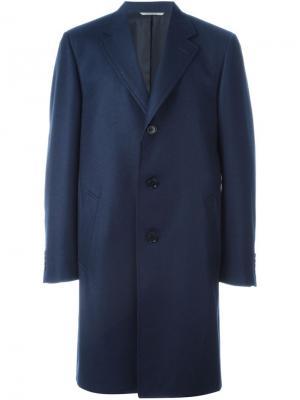 Водонепроницаемое пальто Canali. Цвет: синий