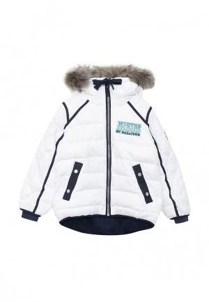 Куртка утепленная Gulliver. Цвет: белый