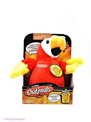 Попугай-повторюшка Dragon-i. Цвет: красный, желтый, белый