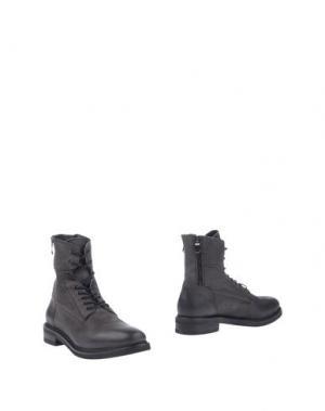 Полусапоги и высокие ботинки KEB. Цвет: свинцово-серый
