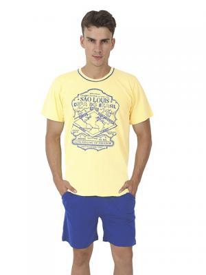 Домашний костюм Vienetta Secret. Цвет: желтый