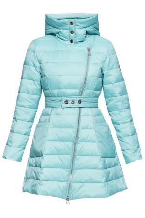 Пальто ODRI Mio. Цвет: голубой