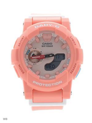 Часы Baby-G BGA-185-4A CASIO. Цвет: коралловый