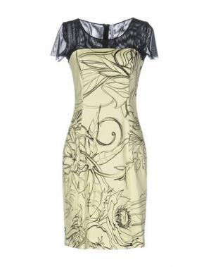 Короткое платье PIANURASTUDIO. Цвет: светло-желтый