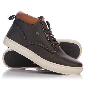 Кеды кроссовки высокие  Wood Dark Grey/Cognac British Knights. Цвет: коричневый