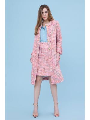 Пальто DEMURYA. Цвет: розовый