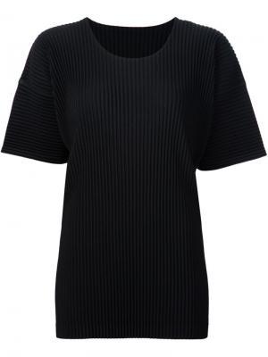 Плиссированная футболка Homme Plissé Issey Miyake. Цвет: чёрный