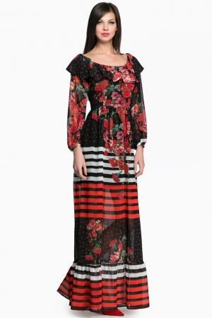 Платье AR1-142826 Babylon. Цвет: разноцветный