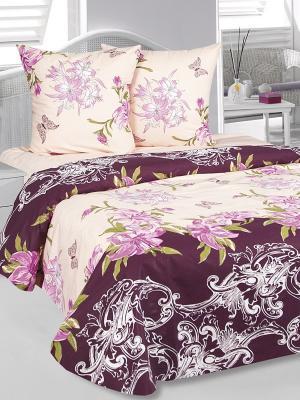 Комплект постельного белья Лилиана Тет-а-Тет. Цвет: фиолетовый, персиковый, сиреневый