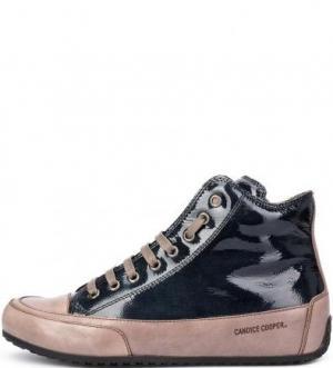 Лаковые кеды на шнуровке и молнии Candice Cooper. Цвет: синий